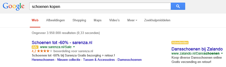 Google-adwords-advertentieweergave