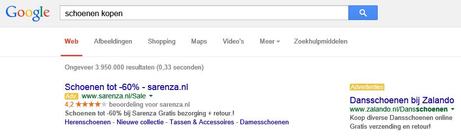 Google-adwords-advertentieweergave