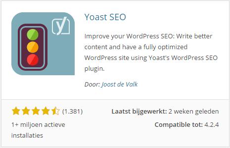 De plugin van Yoast
